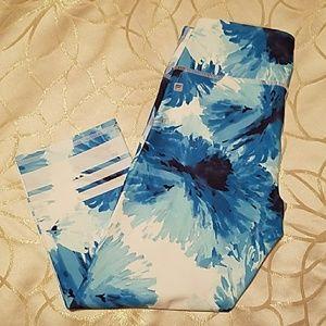Blue printed Fabletics capris - Size XS/0/2/4